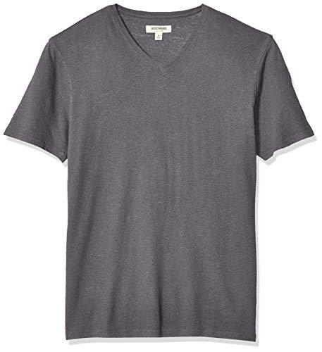 Amazon-Marke: Goodthreads Herren T-Shirt mit V-Ausschnitt, Baumwolle, Dark Grey, US XL (EU XL - XXL)