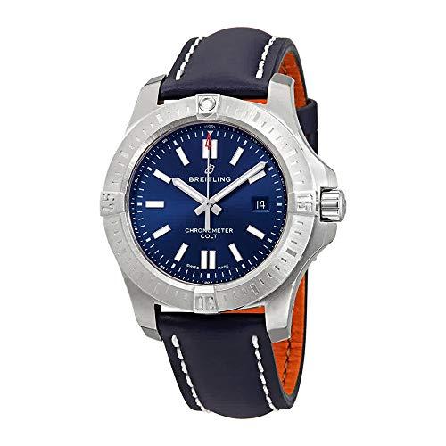 Breitling Chronomat Colt automatico 44 uomo quadrante blu orologio A17388101C1X1