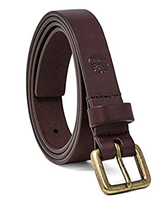 Timberland Women's Casual Leather Belt, Dark Port (Classic), X-Large (35-39)