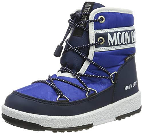 Moon-boot Jr Boy Mid WP, Bottes de Neige garçon, Bleu (Blu 002), 31 EU