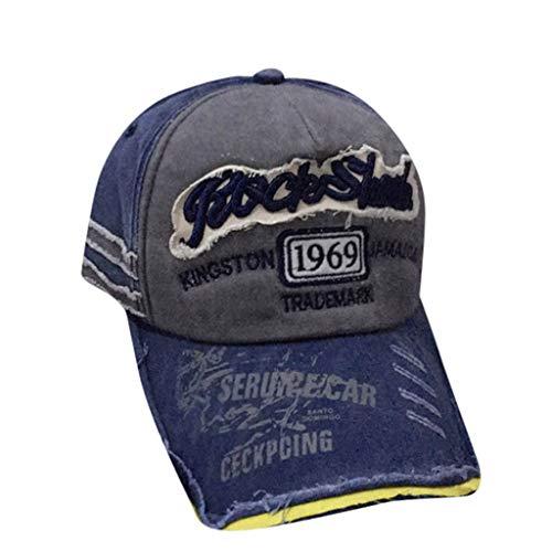 Zottom Herren Damen Unisex Vintage Baseball Cap Verstellbarer Denim Distressed Trucker Hat