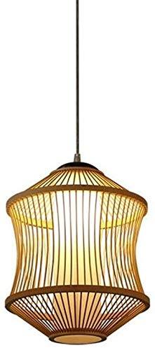 KMILE 100% Natural Bambú lámpara de colgante Luz de techo Lámpara Colgante Lámpara de araña Tropical DIY Mimbre Ratán Lámpara Hecho A Mano Estilo Vintage Oriental Chandeliers China