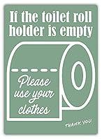 Toilet Rollブリキ看板ヴィンテージ錫のサイン警告注意サインートポスター安全標識警告装飾金属安全サイン面白いの個性情報サイン金属板鉄の絵表示パネル