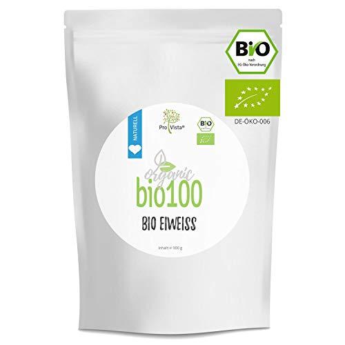 ProVista Bio100 Bio Eiweiss - Bio Mizillar Casein - Organic Protein 1 x 900g Beutel, Geschmack (2x Honig-Vanille) - Bio Protein aus Schweizer Alpenmilch