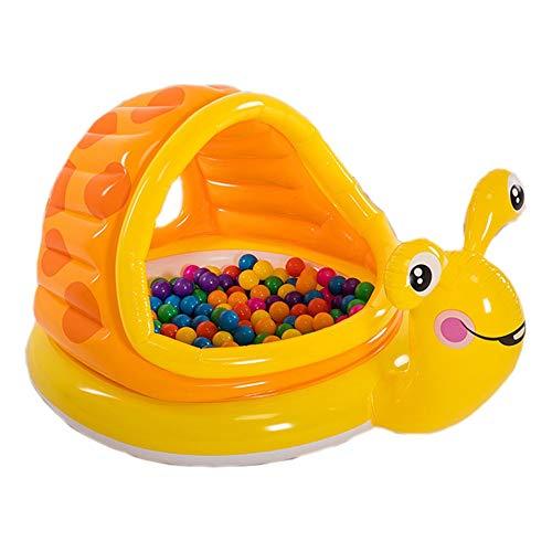 Piscina Hinchable Rectangular Bañera infantil infantil inflable con caracol Piscina infantil con forma de bola para niños Caracol Piscina Inflable Familiar ( Color : Yellow , Size : 145*102*74cm )