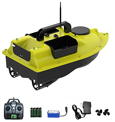 Fish Finder RC Bait Boat for Fishing with Remote Control GPS, Bait Boat for Carp Fishing, 3 Bait Tray, 2.5KG Load, 2 Motors, 500 Meters Range, Cruise Control and Auto Return