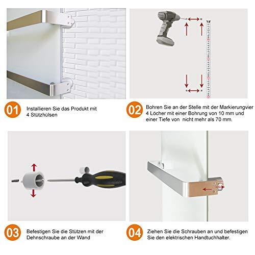 Heizkörper Infrarotheizung Elektroheizkörper Handtuchtrockner Elektrisch Handtuchwärmer Bild 5*