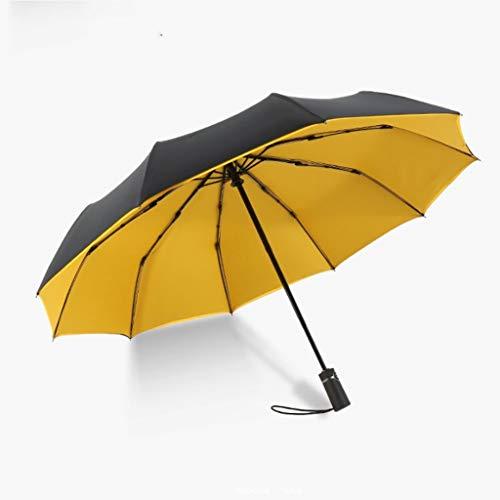 Read About Jian 10 Bone Automatic Folding Large Umbrella Snowproof Rain Double Umbrella Umbrella (Co...