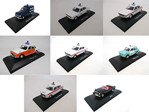 - Conjunto de 8 Coches DE POLICÍA EN INGLÉS 1/43: Austin Ford Morris Hillman Leyland Triumph MGB (Ref: UK-4-5-6-7-10-12-14-20)