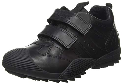 Geox Boy's Jr Savage a School Uniform Shoe, Black, 4 UK