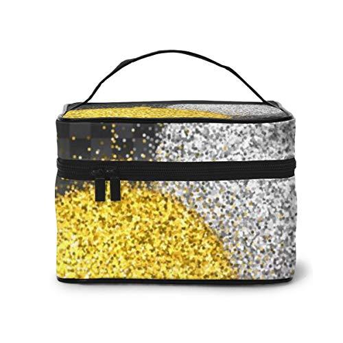 Decorazioni natalizie con borsa da toilette per borsa cosmetica da viaggio con luce scintillante per donne ragazze