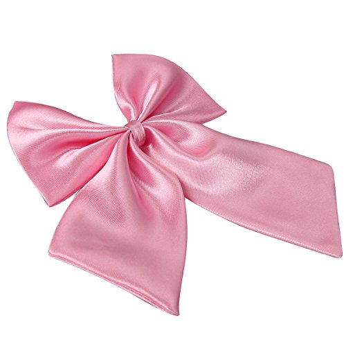 JewelryWe Damen Fliege Schleife Krawatte Binder Schlips Schmettling Bow Tie Anzug Hemd Verstellbar für Silvester Business, Pink