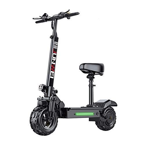 XCBY Monopattino Elettrico Adulti - Scooter Elettrico Pieghevole, 3 modalità di velocità Fino A 60 Km/H, Pneumatico Grasso Fuoristrada da 11 Pollici/Motore da 500 W/Carico Massimo 180 kg