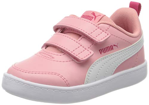 PUMA Courtflex V2 V Inf', Baskets Mixte Enfant, Peony-Bright...