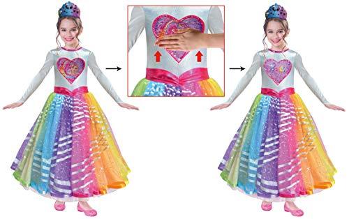 amscan 9902622 Kinderkostüm Barbie Rainbow Magic Deluxe, Mehrfarbig, 3-5 Jahre