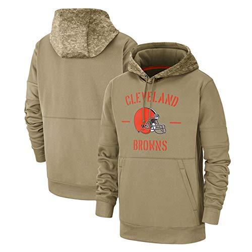 HOXMOMA NFL Amerikanischer Fußball Kapuzenpulli Cleveland Browns Herren Fans Trikots Freizeit Sweatshirt, Kapuzenpullover Long Sleeve Hoodies Herren Fußball Team Hoodie,XXXL