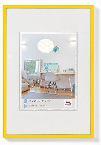 walther design KV040I New Lifestyle, marco di plástico, 30x40 cm, amarillo, pack de 1
