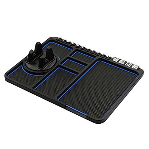 BAWAQAF Coche antideslizante Mat Pad Auto silicona teléfono titular soporte antideslizante antideslizante antideslizante tablero de instrumentos GPS soporte estacionamiento tarjeta