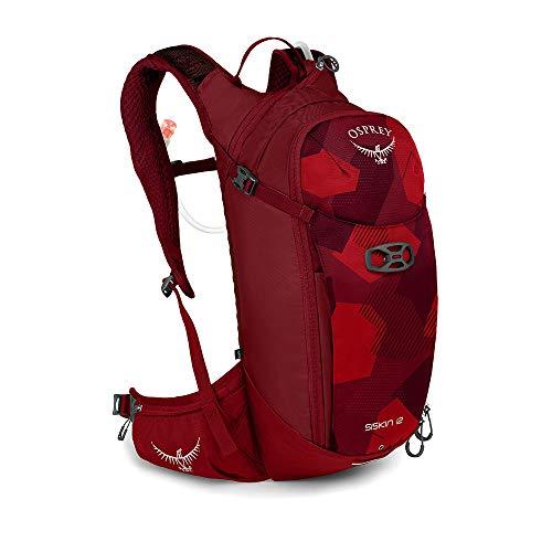 Osprey Siskin 12 Trinkrucksack für Männer, mit Hydraulics™ LT 2,5-Liter-Trinkblase - Molten Red (O/S)