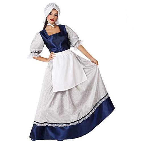 Atosa 66137 Disfraz Mesonera M-L Mujer Azul