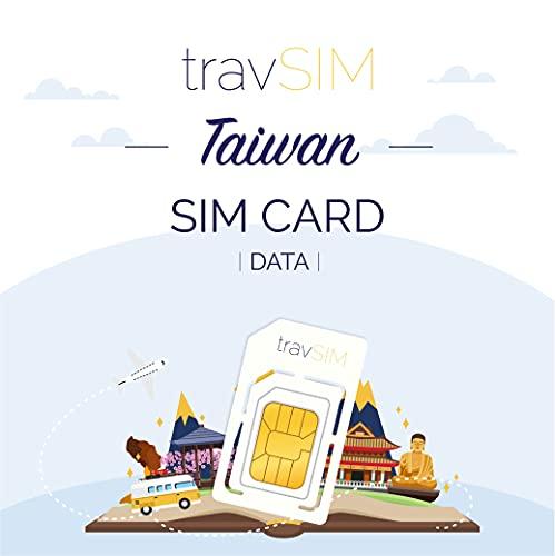 travSIM - Tarjeta SIM Prepaga Taiwanesa(SIM de Datos para-Taiwán) - 10GB de...
