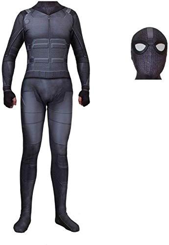 Erwachsene Schwarze Spiderman Kostüm Body Jumpsuit Männer Far From Home Cosplay Kostüm Zentai,Black-separate-adult/XXXL