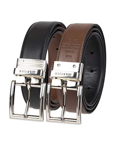 Tommy Hilfiger Men's Reversible Belt, Black/Brown Silver, 36