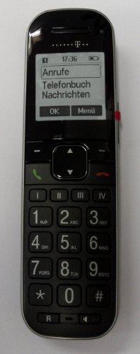 Deutsche Telekom T-COM T-Sinus Mobilteil 206 Comfort OHNE Ladeschale für 206 Comfort Pack und A206 COMFORT in schwarz zum Ersatz/Erweiterung