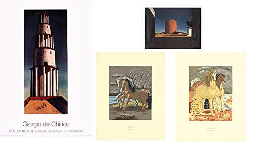 Giorgio de Chirico Bundle- 4 Assorted Prints and Posters