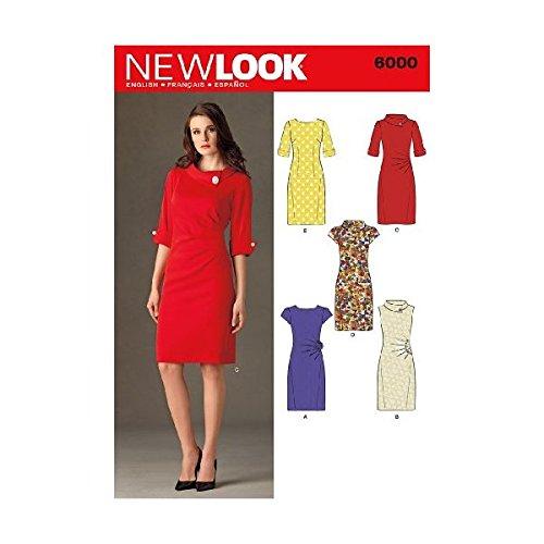 New Look Schnittmuster 6000 A für Damenkleider, Gr. 34-46