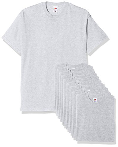 Fruit of the Loom Mens Original Pack, T-Shirt Uomo, Grigio (Heather Grey), X-Large
