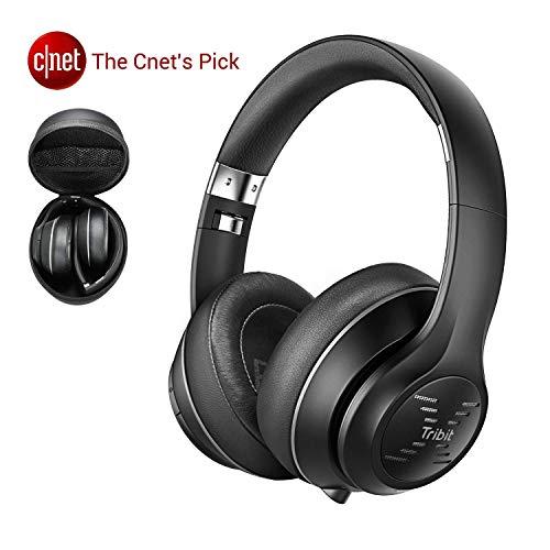[Aggiornato] Tribit XFree Tune Cuffie Bluetooth Over Ear - Cuffie wireless 40 ore di riproduzione, suono stereo Hi-Fi con bassi ricchi, paraorecchie morbide - Cuffia pieghevole con custodia