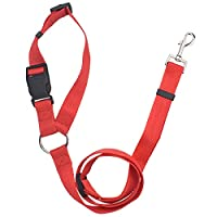 【 Adjustable Size 】 This Pet seat belt has an adjustable strap and it can be extended from 40cm to 56cm Maximum. The adjustable length ensuring your pet's comfort so that your dog can sit, stand or lie down without any kind of restriction. 【 High Qua...