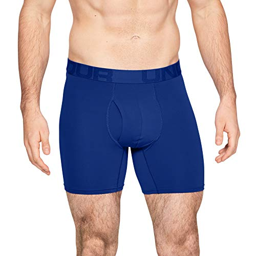 Under Armour Tech Mesh 6in 2 Pack Boxer Homme, (Royal/Academy (400), S