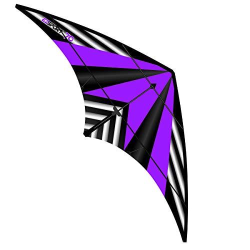 cheap WindNSun Ez Sport 70 Polyester Ripstop Stripe Dual Control Sport Kite, Purple