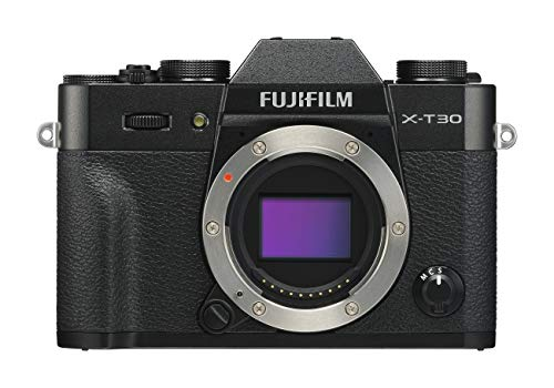 """Fujifilm X-T30 Black Fotocamera Digitale a Ottiche Intercambiabili da 26MP, Sensore CMOS X-Trans 4 APS-C, Mirino EVF, Filmati 4K 30p, Schermo LCD Touch 3"""" Orientabile, Nero"""