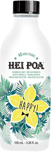 Hei Poa, Aceite corporal (Monoï Puro de Tahití, Perfume Happy) - 100 ml.
