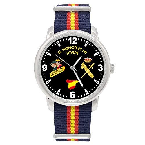 Reloj Guardia Civil Q&Q Correa Bandera España Azul Esfera Negra