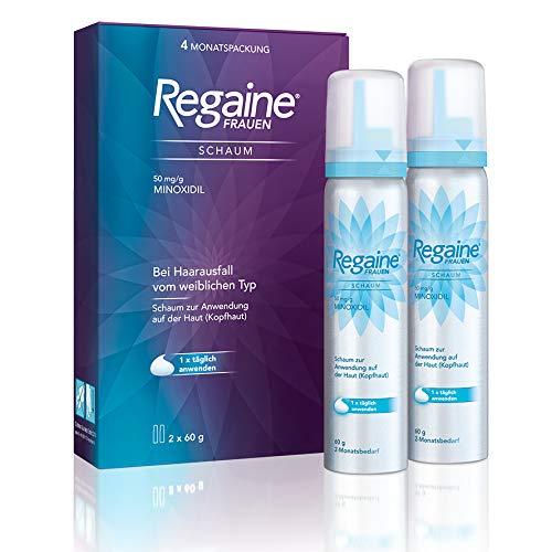 REGAINE Frauen Schaum | stoppt erblich bedingten Haarausfall | 4 Monats Packung | mit 5% Minoxidil | regt neues Haarwachstum an
