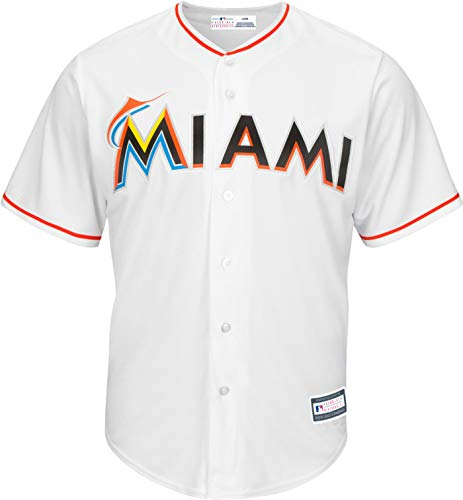 Outerstuff MLB 8-20 Youth Blank Cool Base Home Color Team Jersey (Small 8, Miami Marlins Home White)
