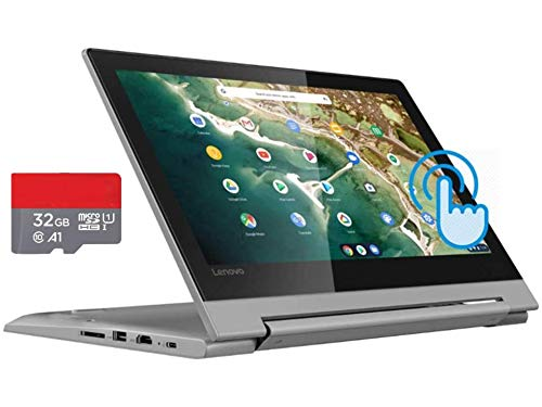 Newest Lenovo Flex 3 11.6' HD Touchscreen 2-in-1 Chromebook Laptop, MediaTek MT8173C Quad-Core CPU, 4GB RAM, 64GB Space(32GB eMMC+32GB MicroSD), Bluetooth, Webcam, HDMI, USB-C, Chrome OS+AllyFlex MP