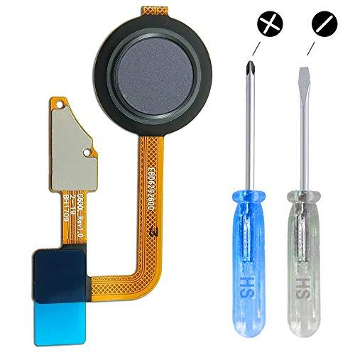 MMOBIEL Botón Inicio Home Sensor de Huella Dactilar Compatible con LG G6 H870 H871 H872 H870 K/S/V (Ice Platinum)