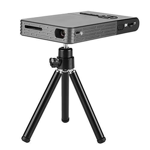 Garsent DLP Beamer, 2500 lumen, HD 1080P Android DLP, draadloze projector, wifi, bluetooth, thuisbioscoop, smart mini beamer met statief, ondersteunt TF-kaart/harde schijf/HDMI/USB, EU 110 – 240 V.