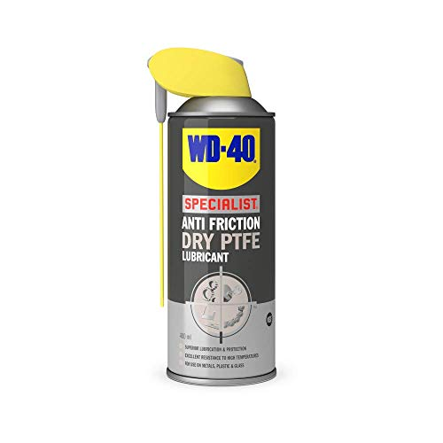 WD-40 44395A Specialist, Anti Friction Dry PTFE Lubricant with Smart Straw, Non-Stick Resists Dust, Dirt & Oil, 400ml