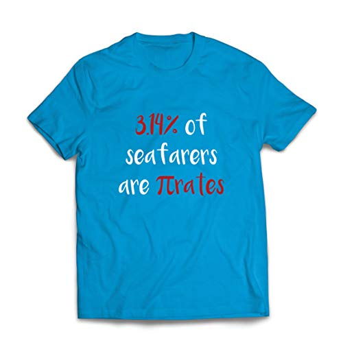 lepni.me Mannen T-shirt 3.14% Of Seafarers Are Pi-Rates Math Humor Quote