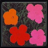 ポスター アンディ ウォーホル Flowers I 額装品 ウッドハイグレードフレーム(ブラック)