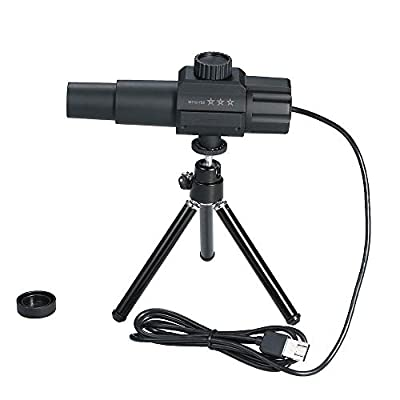 USB Digital Telescope Monocular 2MP 70X Zooming Magnification Adjustable Scalable Camera with Tripod Stand for Photographing Videotaping for Birds Wild Animals Outdoor Watching Security Monitoring