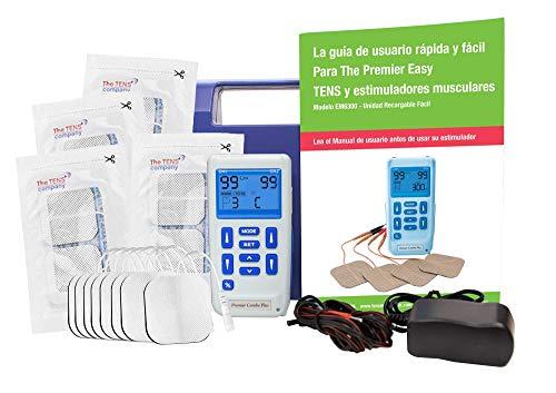 Estimulador muscular y TENS recargable profesional Med-Fit: 24 programas integrados y viene con ajustes manuales, puede crear sus propios ajustes de programa