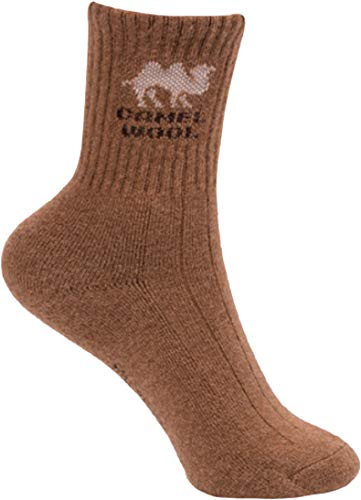Cashmere Planet Bio-Kamelwolle Socken sehr warm 90% Kamelwolle Kaltwetter Warme Socken für kalte Winter Made in Mongolei - Braun - X-Large