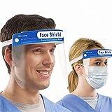 NiaCoCo Safety Face Shield Full Protection Cap Wide Visor, Plástico liviano, ajustable, transparente, protege contra la saliva, el polen y el polvo (2 piezas)